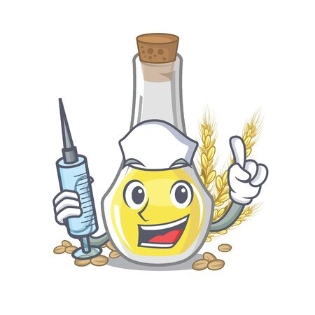 Nurse wheat germ oil the mascot shape vector illustration