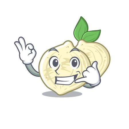 Call me jicama in the a cartoon shape vector illustration
