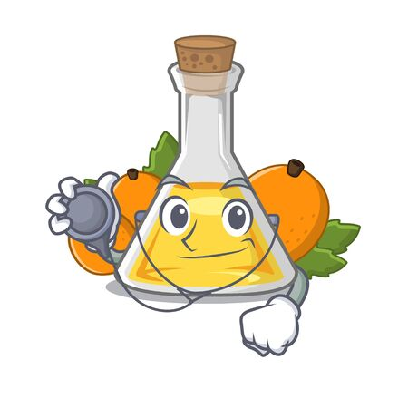 Doctor apricot oil in the character bottle vector illustration