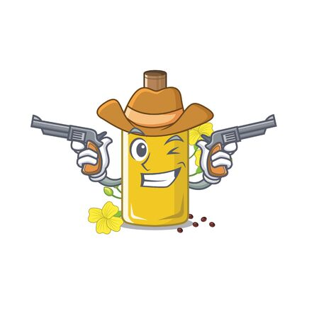 Cowboy canola oil isolated with the cartoon vector illustration