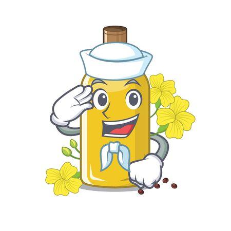 Sailor canola oil isolated with the cartoon vector illustration