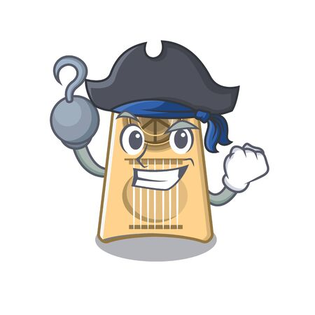 Pirate egg slicer isolated in the cartoon vector illustration