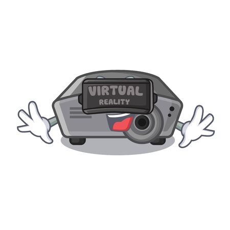 Virtual reality projector in the a cartoon shape vector illustration