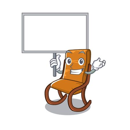 Bring board rocking chair in cartoon living room vector illustration