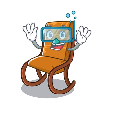 Diving rocking chair isolated in the character vector illustration 일러스트