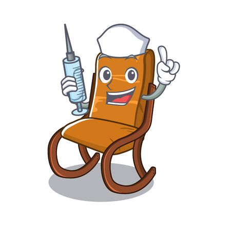 Nurse rocking chair isolated in the character vector illustration 일러스트