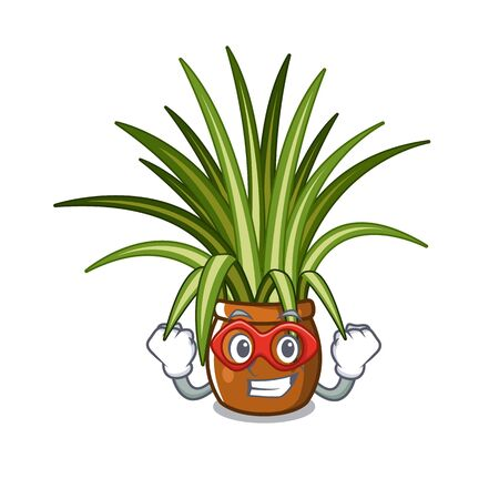 Super hero spider plant isolated with in mascot vector illustration Ilustracja