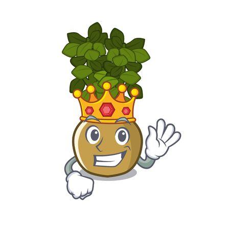 King jade plant grows in cartoon stem vector illustration 矢量图片
