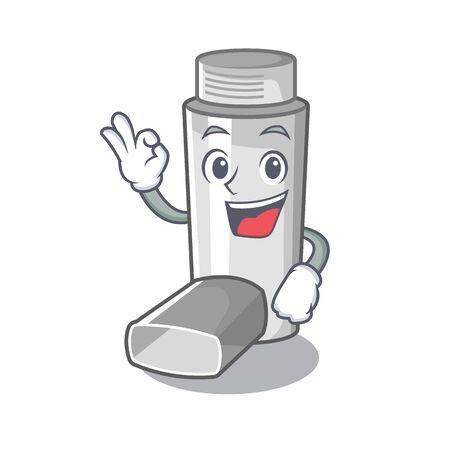 Okay asthma inhalers in cartoon medicine box