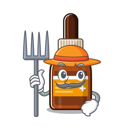 Farmer iodine isolated with in the mascot vector illustration Illustration