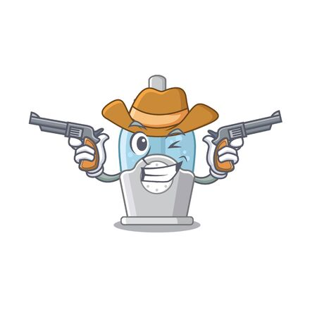 Cowboy humidifier isolated with in the mascot