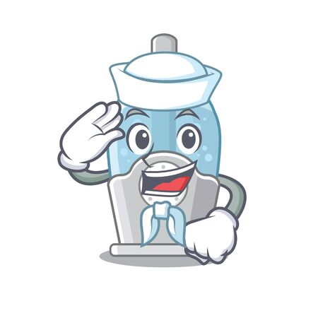 Sailor humidifier isolated with in the mascot vector illustration