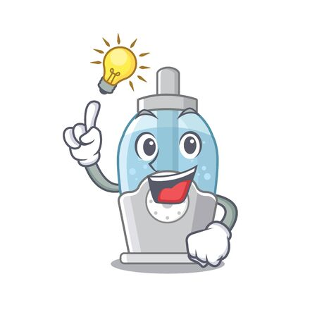 Have an idea humidifier with in the cartoon shape vector illustration