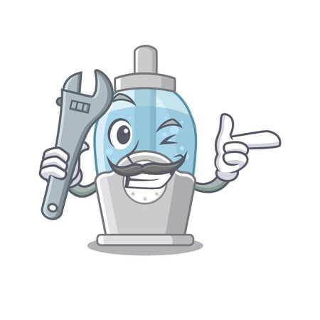 Mechanic humidifier with in the cartoon shape vector illustration