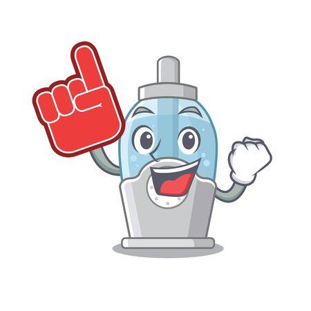 Foam finger humidifier with in the cartoon shape Иллюстрация
