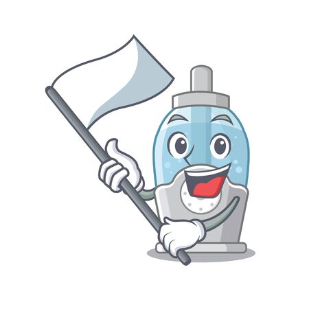With flag humidifier with in the cartoon shape vector illustration
