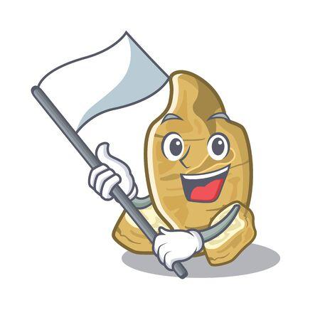 With flag jerusalem artichoke in the character fridge Ilustração