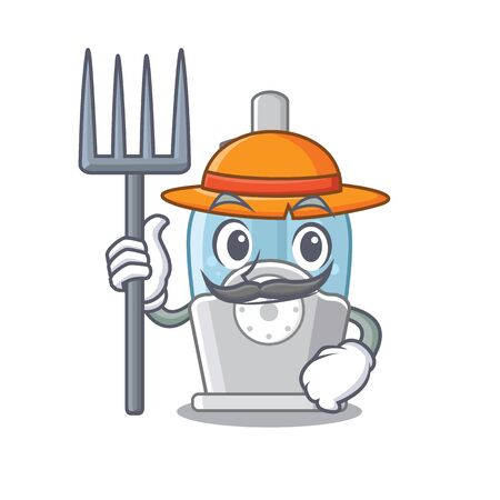 Farmer humidifier isolated with in the mascot Иллюстрация