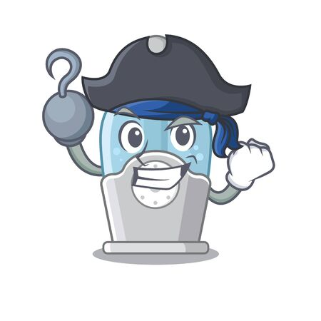 Pirate humidifier isolated with in the mascot Иллюстрация