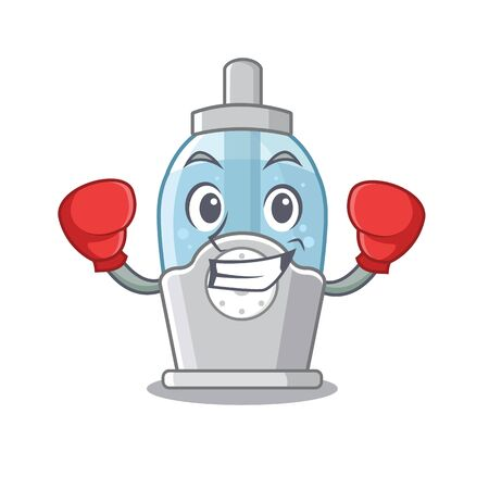 Boxing humidifier isolated with in the mascot vector illustration