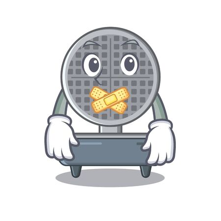 Silent waffle iron above the table mascot