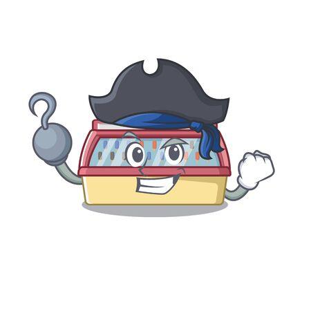 Pirate ice cream freezer isolated the mascot