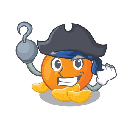 Pirate tangerine fruit slices on character plate Ilustrace