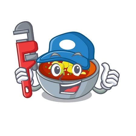 Plumber gazpacho isolated with in the mascot