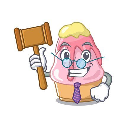 Judge kakigori isolated with in the cartoon vector illustration
