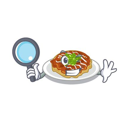 Detective okonomiyaki in the a mascot shape