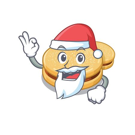 Santa alfajores isolated with in the mascot