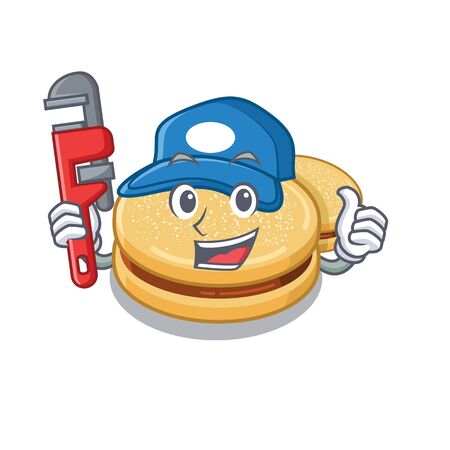 Plumber alfajores isolated with in the mascot