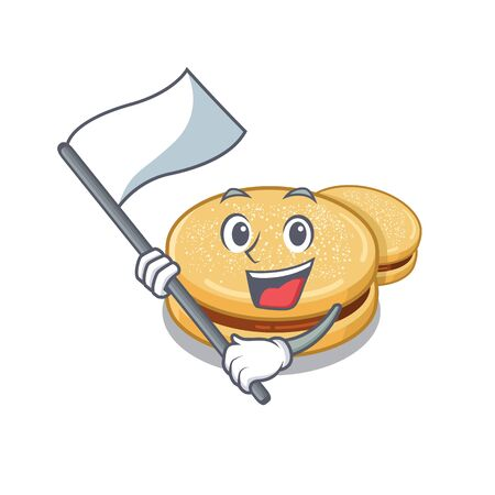 With flag alfajores isolated with in the mascot vector illustration