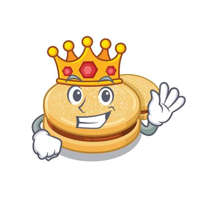 King alfajores isolated with in the mascot