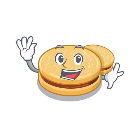 Waving alfajores with in the cartoon shape