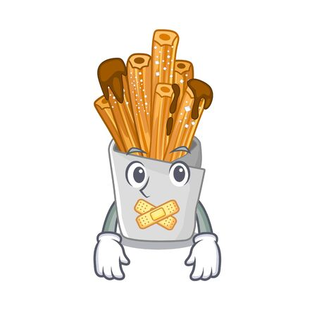 Silent churros in the wooden character jar Illustration