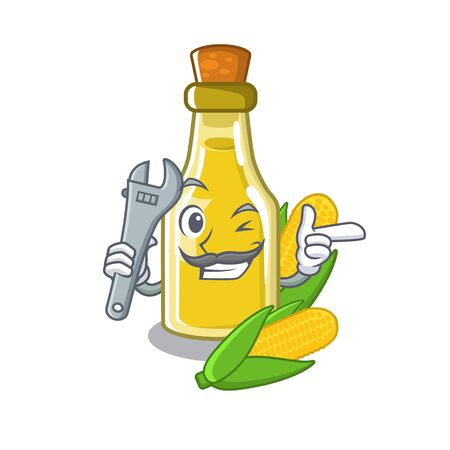 Mechanic corn oil in the character shape