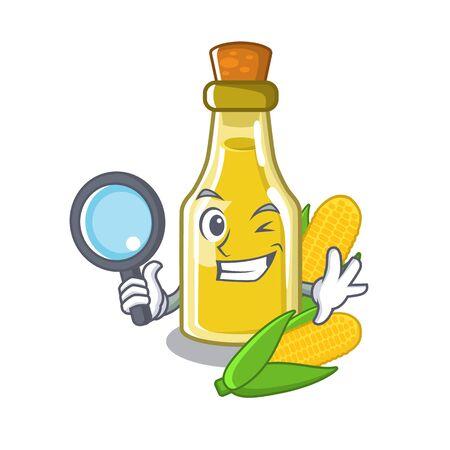 Detective corn oil put into cartoon bottle