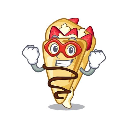 Super hero crepe with in the cartoon shape