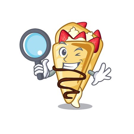 Detective crepe with in the cartoon shape