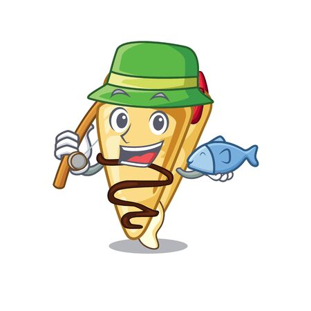 Fishing crepe isolated with in the character vector illustration  イラスト・ベクター素材