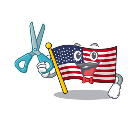Barber flag america isolated in the cartoon  イラスト・ベクター素材