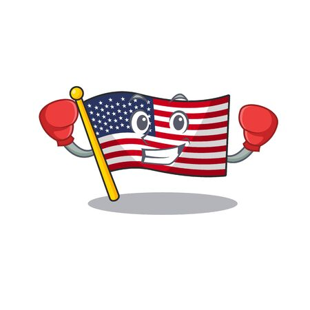 Boxing flag america isolated in the cartoon  イラスト・ベクター素材