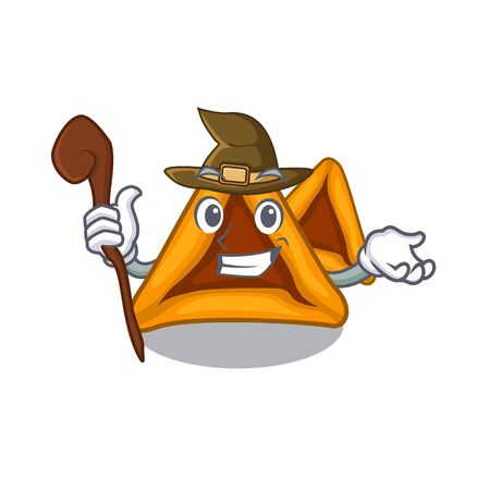 Witch hamantaschen cookies isolated with the mascot