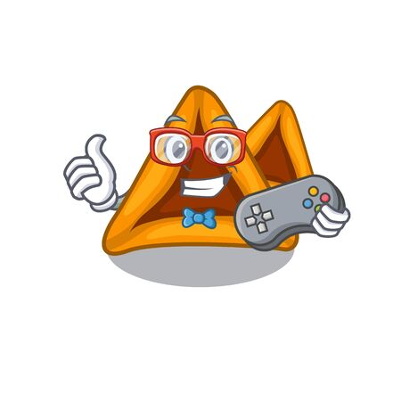 Gamer hamantaschen cookies isolated with the mascot Illustration