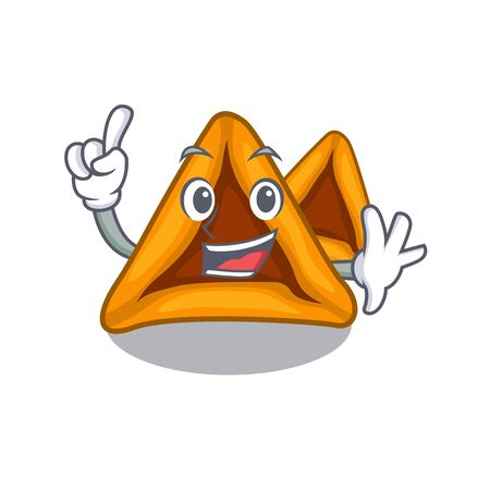 Finger hamantaschen cakes served in character plates vector illustration