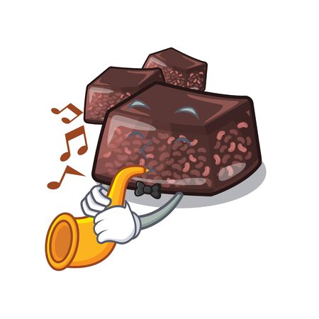 With trumpet mizuyoukan cartoon chill in the fridge vector illustration Иллюстрация