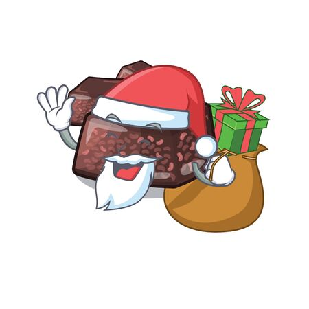Santa with gift mizuyoukan isolated with in the character vector illustration Illusztráció