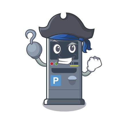Pirate parking vending machine in a character