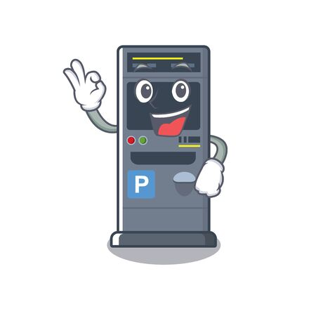 Okay parking vending machine the cartoon shape Ilustração